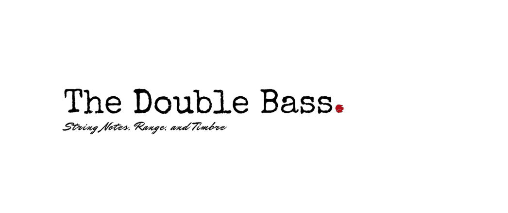 double bass range string notes timbre